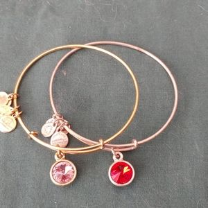 2 Alex and Ani Crystal drop bracelets